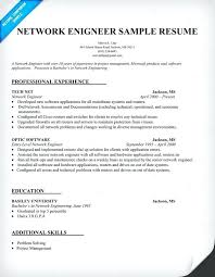 Software Engineer Resume Templates Sample Resume Format For Experienced Engineers Network Engineer