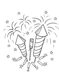 fireworks coloring pages coloring pages