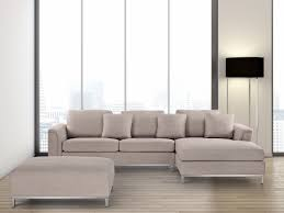 sectional sofa with ottoman l beige oslo