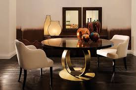 dom edizioni andrew table in makassar ebony with bronzed base