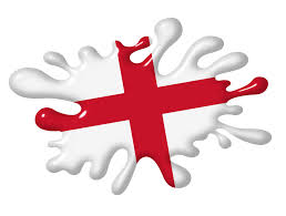 Englang Flag 3d Shaded Effect Splat Design With St Georges Cross England Flag