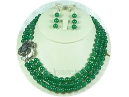 green pearls necklace images Royal 8mm bright green jade necklace and earrings jewelry sets lp jpg