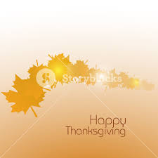 happy thanksgiving day concept with golden autumn leaves on abstract