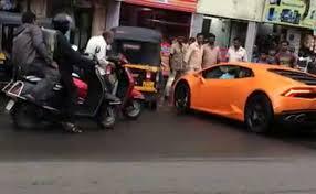 lamborghini the car rs 5 crore lamborghini crashes into an auto in mumbai here s why