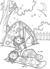 scout camping coloring pages groovy girls camp coloring
