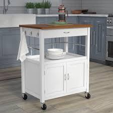 kitchen island cart butcher block andover mills kibler kitchen island cart with butcher block