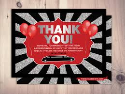 thank you card limo pass birthday party 21st birthday
