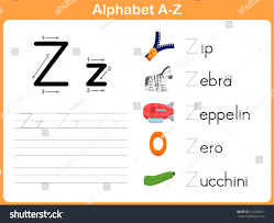 Pictograph Worksheet Alphabet Tracing Worksheet Writing Az Stock Vector 214050427