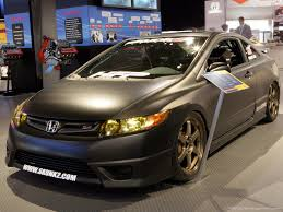 tuner honda civic pic request new black si civic with bronze te37s honda tech