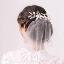 wedding hair veil silver of pearl floral wedding hair vine elvie britten