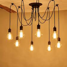 Gun Chandelier by Vintage Industrial Hanging Chandelier Lighting Edison Light Bulb