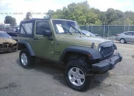 jeep rubicon cer 1c4ajwag0dl645106 salvage certificate green jeep wrangler at