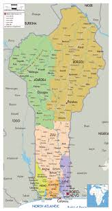 Map Of Africa With Cities by Detailed Administrative And Road Map Of Benin With Cities And
