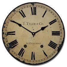 large roman numeral wall clocks distressed wall clock