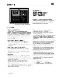 caterpillar emcp 4 4 spec sheet electric generator electrical