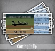 wedding invitations kansas city large baseball wedding invitation tickets sports ticket