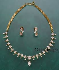 simple diamond sets simple diamond necklace set 22kgolddesigns