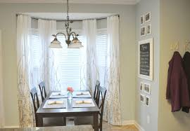 Kitchen Bay Window Curtain Ideas Curtain Ceiling Mounted Curtain Rods Bay Window Bay
