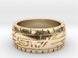 sti wedding ring subaru sti ring 16 mm us size 5 1 2 3d printed rings