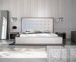 Leather Tufted Headboard Home Design White Leather Tufted Headboard Scandinavian Compact