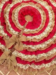diy no sew burlap and lace tree skirt