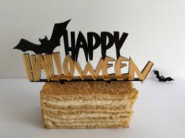 Halloween Cake Supplies Happy Halloween Cake Topper Fall Party Decorations Halloween Sign