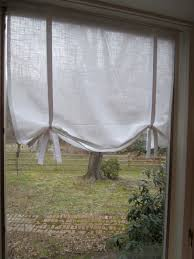 window treatments tie up curtain pattern no pattern diy and