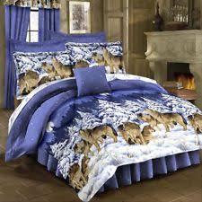wolf bed set wolf comforter sets ebay