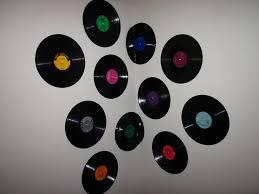 vinyl records look soo cute hung on the wall as art u003c3 50 u0027s pin