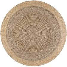 Colored Jute Rugs Round Area Rugs Rugs The Home Depot