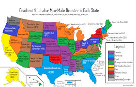 Pratt Map Deadliest Natural Or Man Made Disaster In Each State The Van