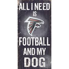 falcons football and my dog sign