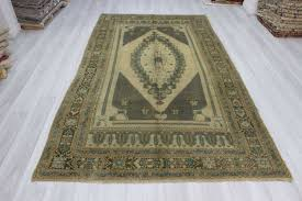 Turkish Area Rugs Vintage Knotted Decorative Washed Out Turkish Area Rug Woveny