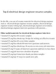 electrician resumes samples electrical design engineer resume format top 8 electrical design engineer resume samples top8electricaldesignengineerresumesamples150406202008conversiongate01thumbnail4jpgcb1428369662