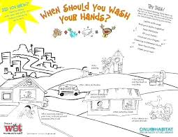 printable poster for hand washing coloring handwashing coloring pages