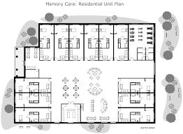 Layout Of Nursing Home | residential nursing home unit plan