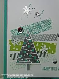 diy christmas card with festival of trees and all is calm washi