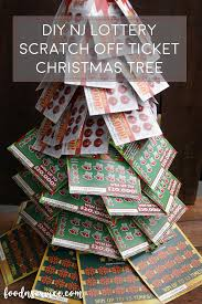 diy lottery christmas tree a perfect gift give the gift of