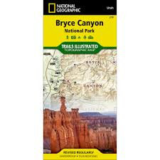 National Parks Utah Map by 219 Bryce Canyon National Park Trail Map National Geographic Store