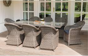 amber eight seater rattan dining set out and out