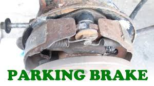 lexus park place parts parking brake replacement drum on rear disc brake youtube