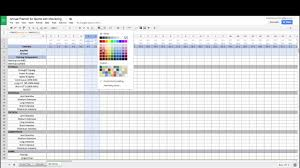 annual planner for sports with monitoring youtube