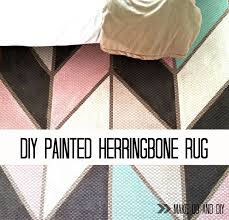 painted herringbone rug make do and diy