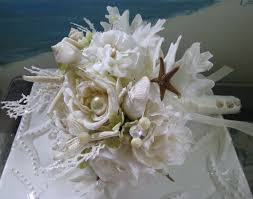 wedding bouquets with seashells seashell wedding bridal bouquet coral bridal bouquet white