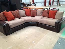 Scs Sofas Leather Sofa Brand New Scs U0026 34 Border U0026 34 Large Half Leather Fabric Corner