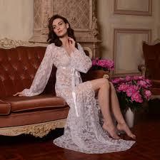 honeymoon sleepwear silk bridal robe with lace sleeves f6lingerie bridal