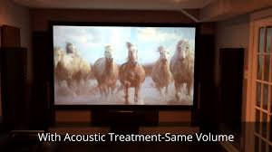 home theatre the difference with acoustic treatment kanye west