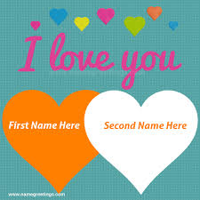 i love you write your and lover name in heart