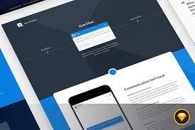 app landing page for sketch website templates creative market