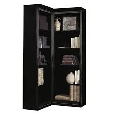 Corner Bookcase Designs Simple Dark Wood Corner Bookcase Design Photo 44 Laredoreads